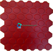 All side zigzag with Round circle floor tile